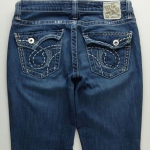 Big Star Maddie Flare Jeans Women's 27 Flap A126